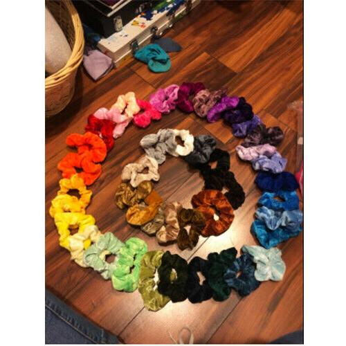 46 Velvet Scrunchy Bands Ties Gifts