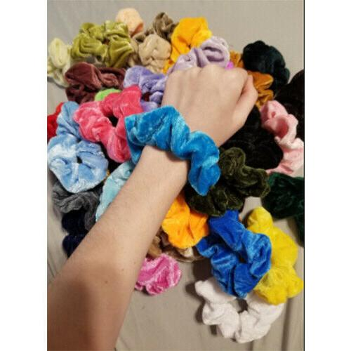 46 Pcs Hair Velvet Hair Scrunchy Gifts