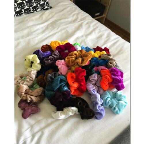 46 Pcs Scrunchies Velvet Elastics Hair Ties Scrunchy Gifts