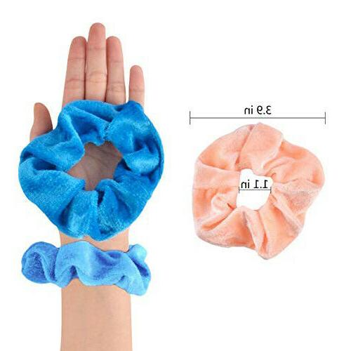 46 Pcs Velvet Hair Scrunchy Ties Gifts