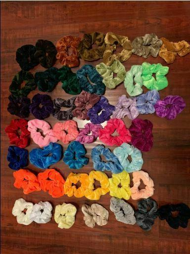 46 Velvet Scrunchy Bands Ropes Gifts