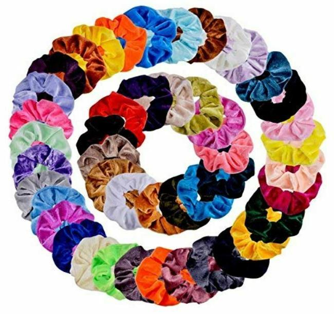 46 pcs hair scrunchies velvet elastics hair