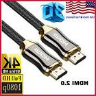 4K HDMI Cable 15FT Ultra High Speed HDMI 2.0 Braided Cord Et