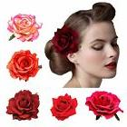 DRESHOW 5 Pack Flower Brooch Floral Hair Clips for Women Ros