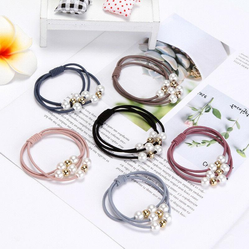 5 Pearl Hair Ropes Ring Holder Hair Accessories