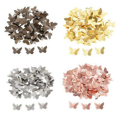 50x butterfly charm women hair accessory diy