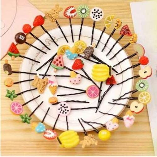 5pcs candy color fruit hairpin vegetable hair