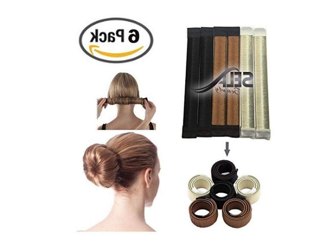 6 packs hair styling donut