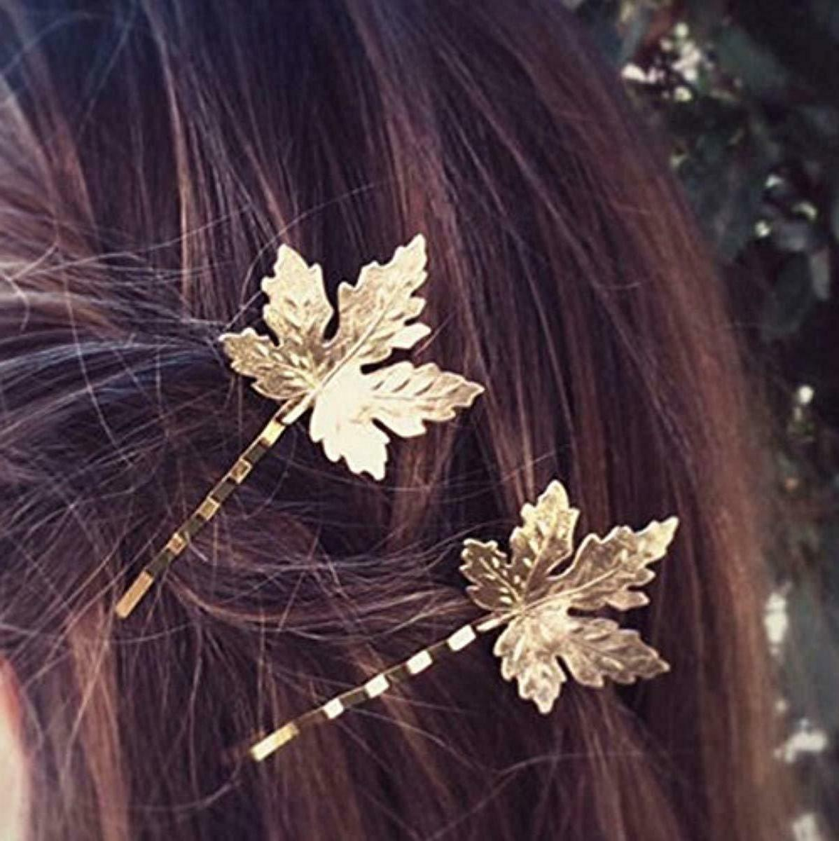 QTMY Feather Clips Hair Accessories