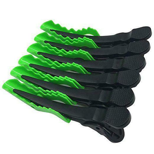 6pcs Salon Croc Hair Styling Clips-Sectioning Hair Clip