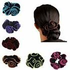 6pcs women hair scrunchies floral print cotton