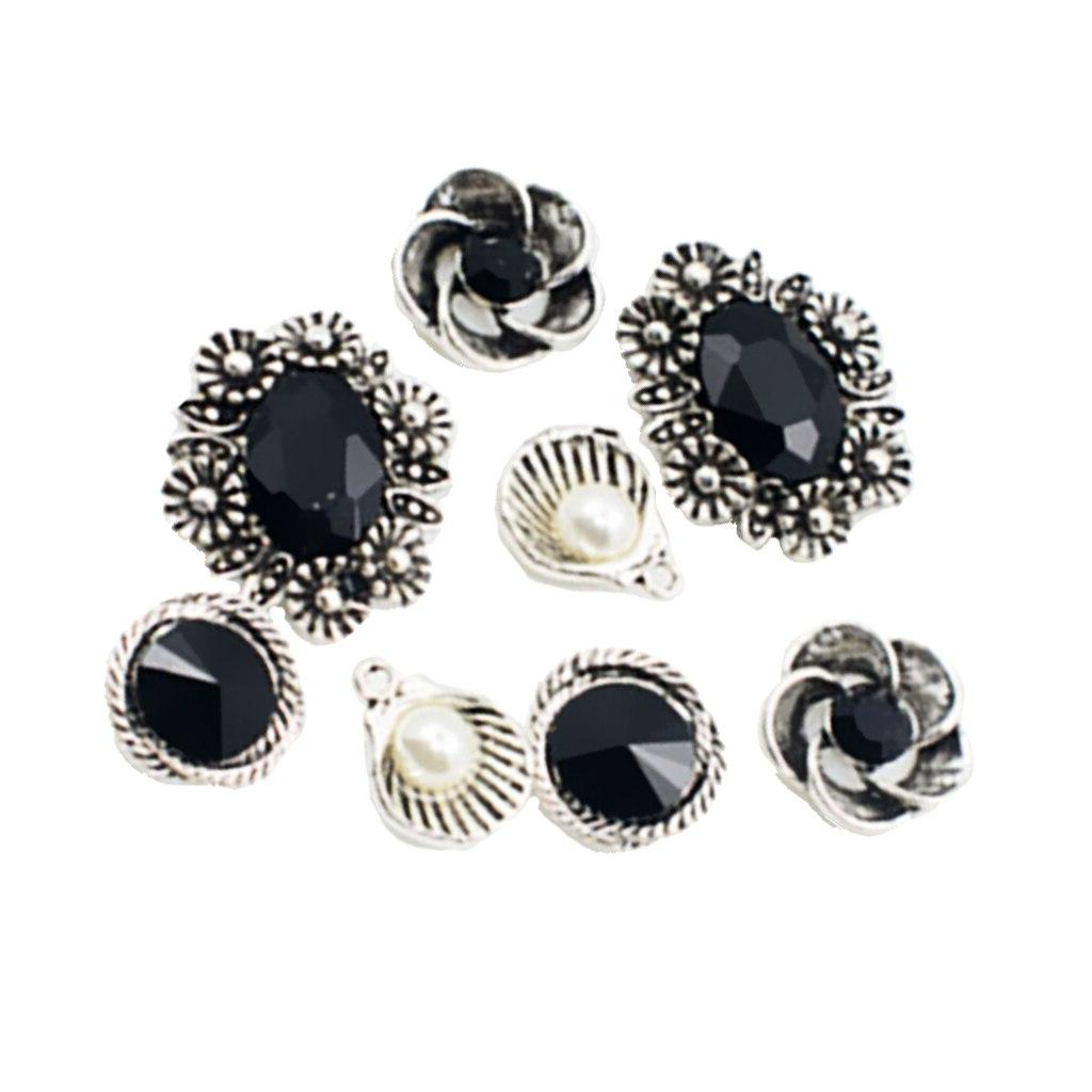 8 Pieces Black Crystal for DIY <font><b>Hair</b></font> <font><b>Jewelry</b></font>