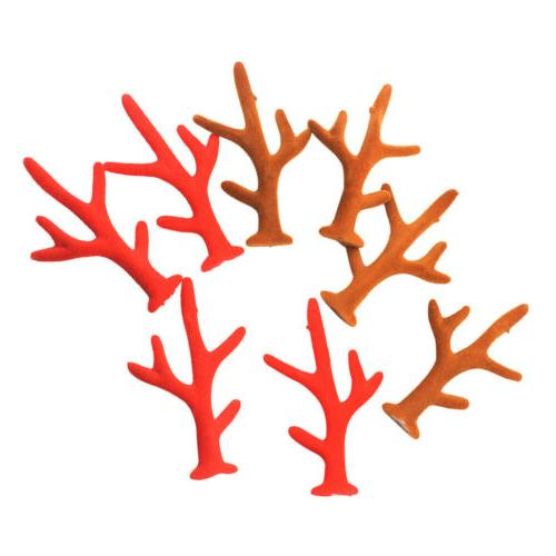 8pcs Reindeer Antler Jewelry Making Finding For Hair Accesso