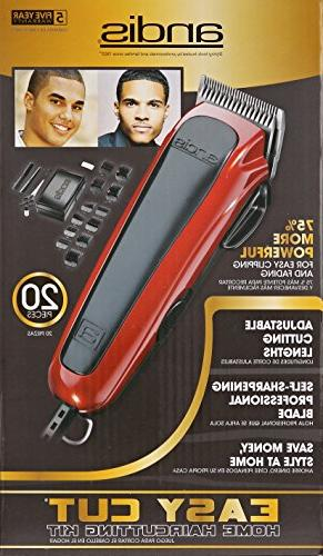 Andis Cut Haircutting Kit, Red/Black