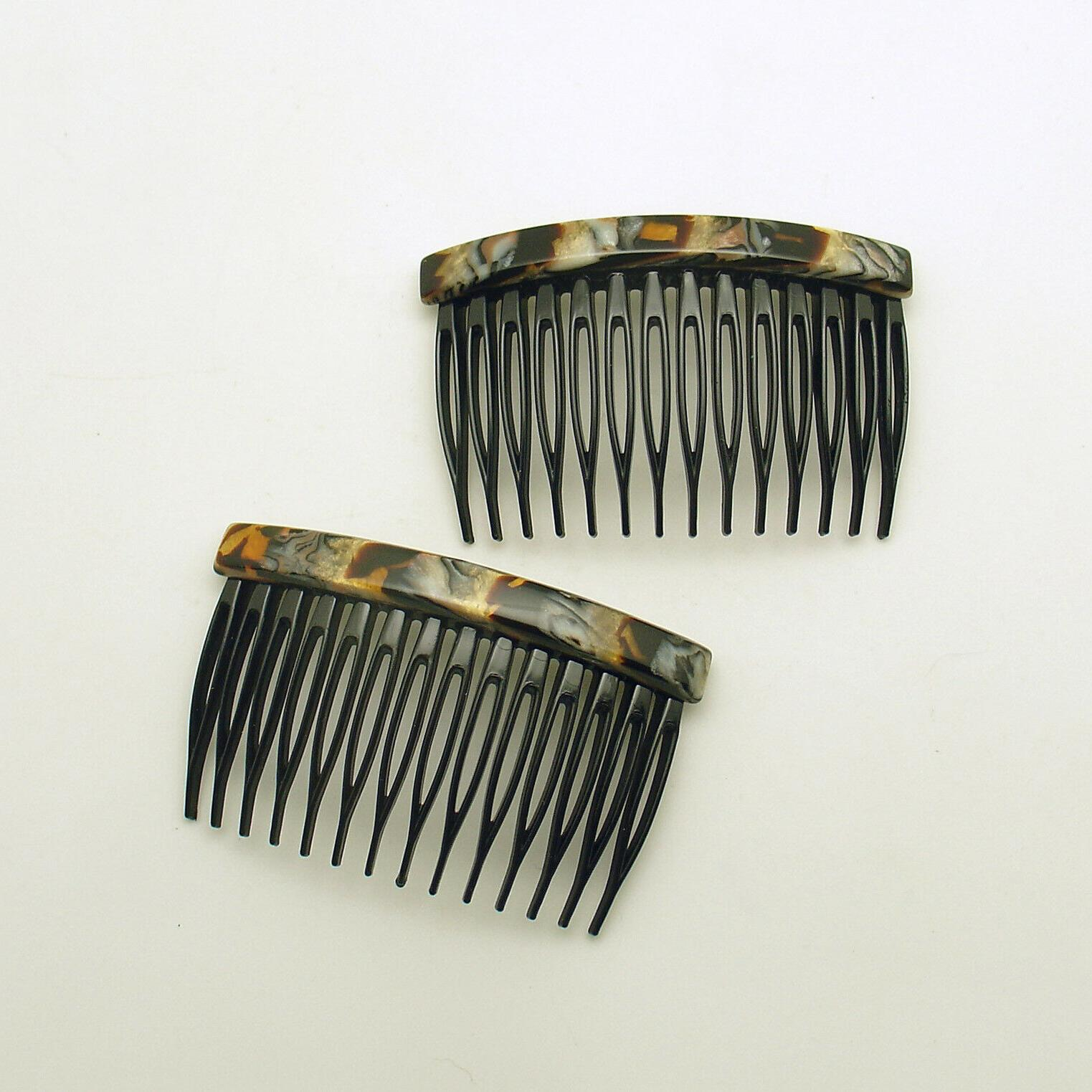 Side Combs France Luxe Pair Hair Combs