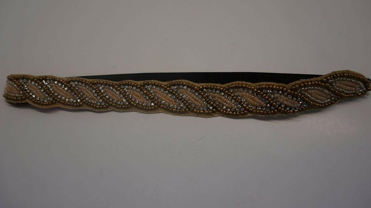 Beige Gold Beads crystals Headband Hair Accessories