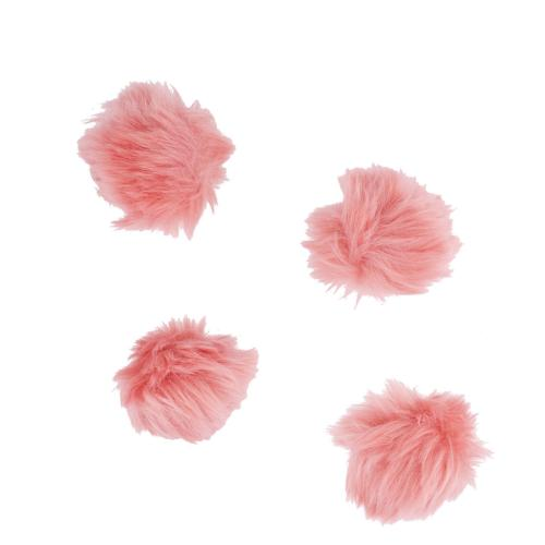 Lux Accessories Blush Baby Pink Fur Breast Cancer Pom Pom Ha