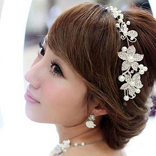NYKKOLA Boutique Wedding Flower Pearl Hair Comb Bridal Accessories
