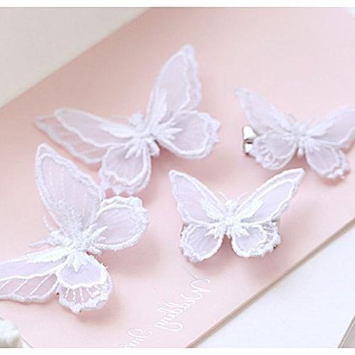 butterfly hair clips lace