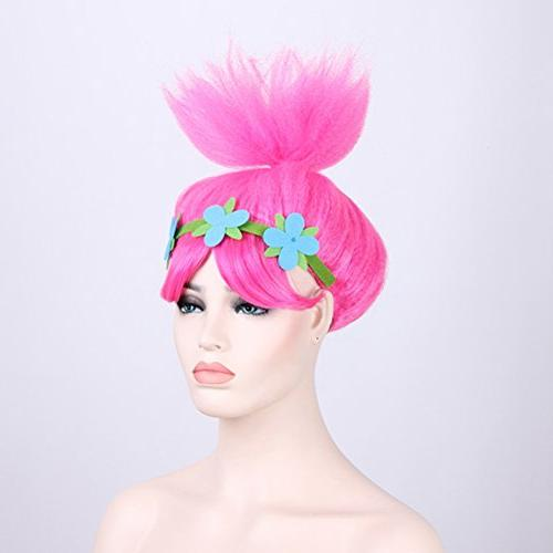 Pink Poppy Wigs Party Women and