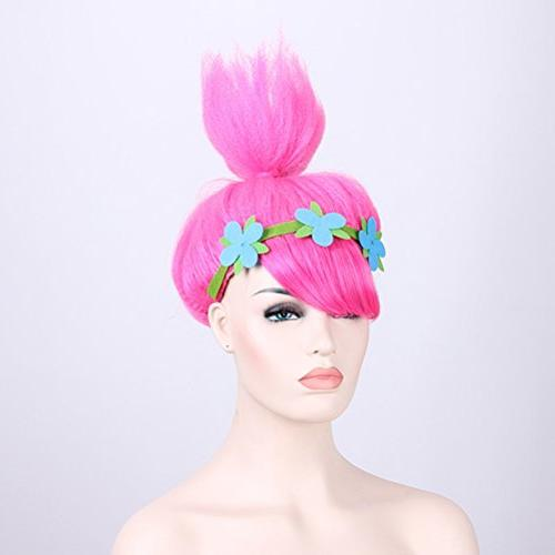 Pink Trolls Costume Wigs Party Women and