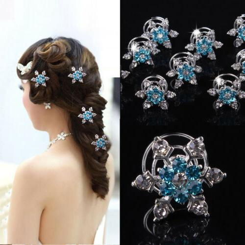 Crystal Silver for Bride Hair