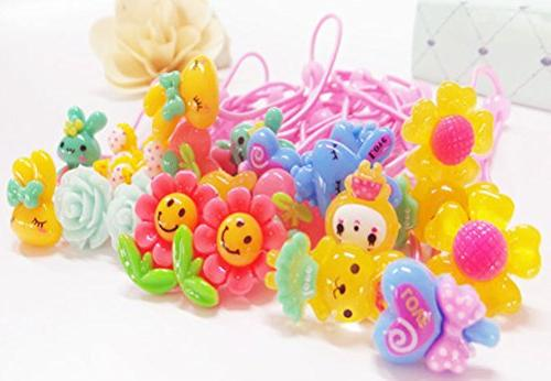 cute assorted elastic ponytail holders