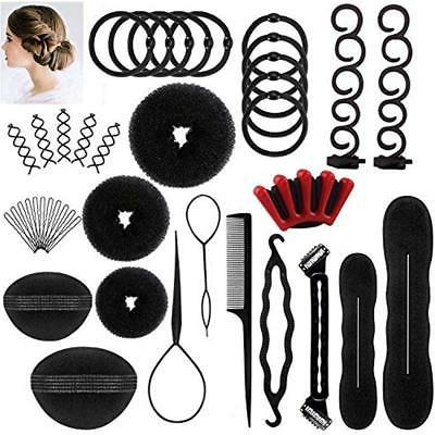 DELOVE- Bun & Crown Shapers Hair Styling Set, Fashion Design
