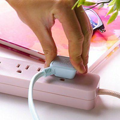 6-ft 3-Outlet Power Strip, 2x Rose