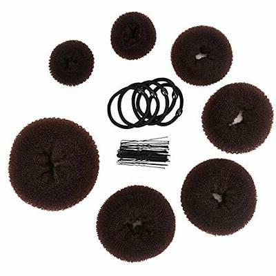 Donut Hair Bun Crown Shapers Set With Makers Extra-large, And