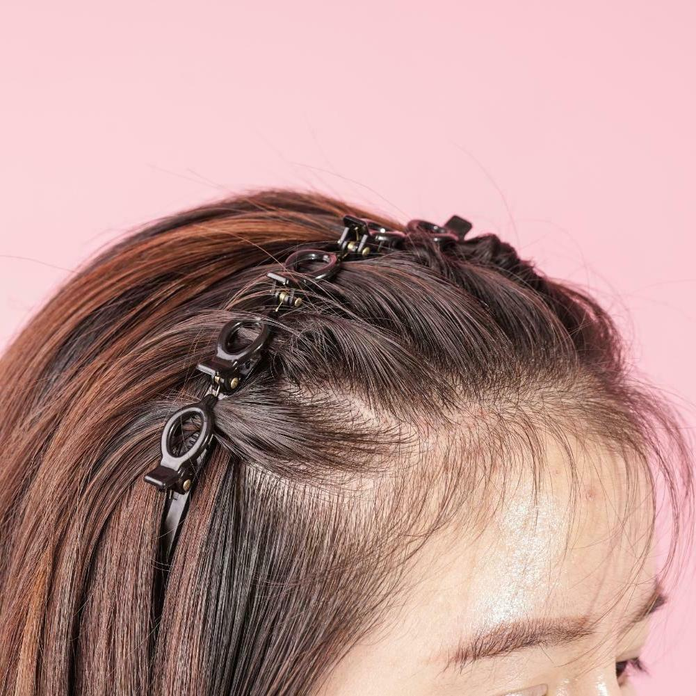 Double Clips Band Hairpin with #