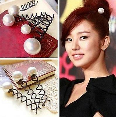 fad faux pearl flaxen hair tools party
