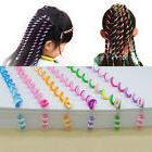 Fashion Girls Kids Hair Band Colorful Long Spiral Winder DIY