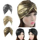 Fashion Twist Turban Women's Fashion Metallic Wrap Cap Headb