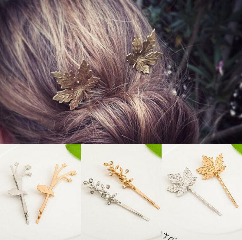 Fashion Gold Silver Geometry Hairpin Hair Clip Hair Accessories