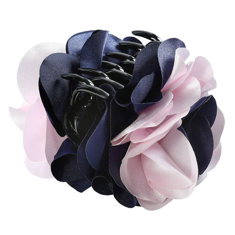 Fashion Women's Flower Hair Clips Ponytail