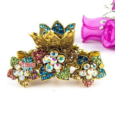 Beautyxyz Fashion Women's Rhinestones Metal Hair Claw ClipTh