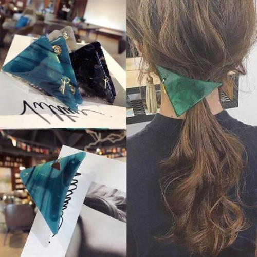Fashion Women's Triangle Hairpin Hair Clips Pins Claw Barret