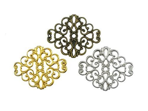 Filigree Connector,Metal Decoration for DIY Earring Costume Jewelry Findings