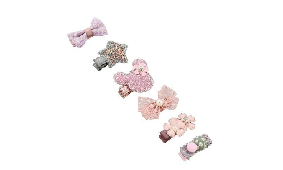 Girl Infant Hair Accessories Fabric Clips Fashion Cute Pink