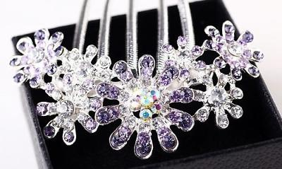 Hair Clip Beautiful Jewelry Flowers Crystal Hair Clip