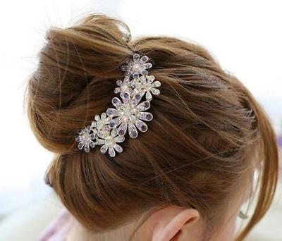 hair clip beautiful jewelry flowers crystal hair