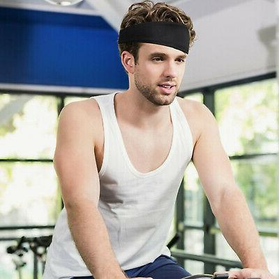 Hair Head Headband Stretch Mens Elastic Gym