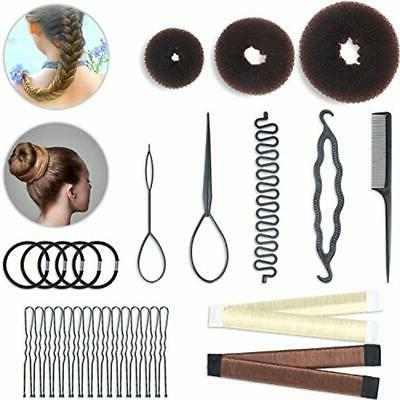 hair styling bun and crown shapers set
