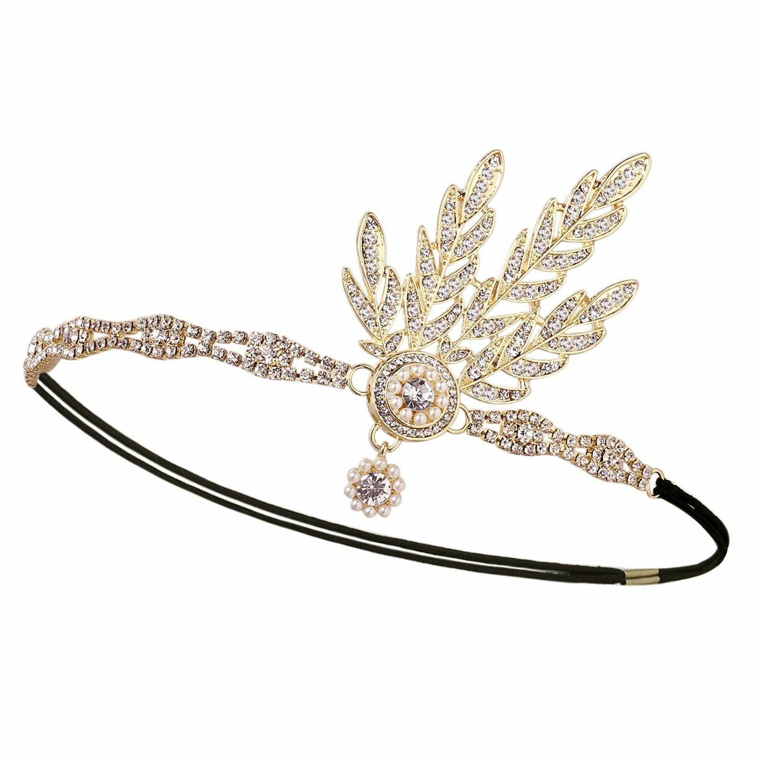 Babeyond Flapper Great Gatsby Pearl Headband
