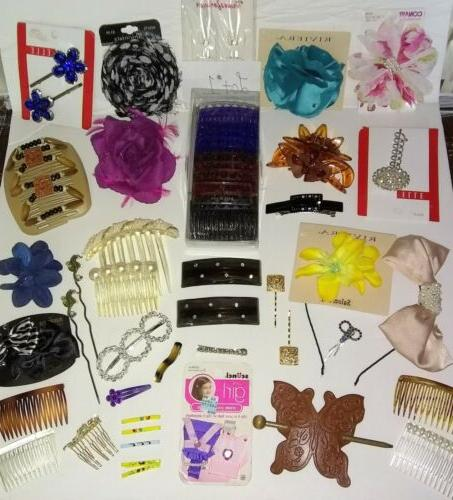 huge mixed lot 1 hair accessories vintage