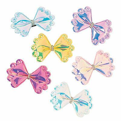 iridescent hair clips apparel accessories 12 pieces