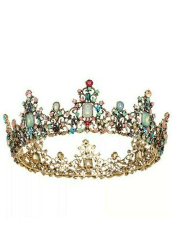 jeweled baroque queen crown rhinestone wedding crowns