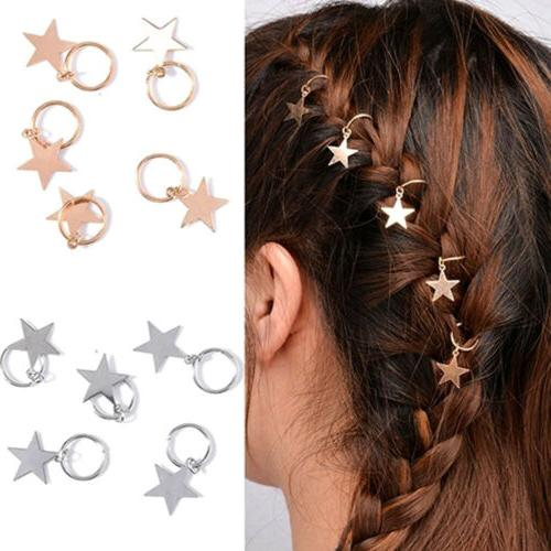 Jewelry Accessories Hair Shinny Rings For Braids Gold Cute W
