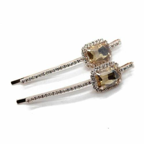 Jewelry Crystal Clip Hair Accessories Bobby Pin Hair Clamp H